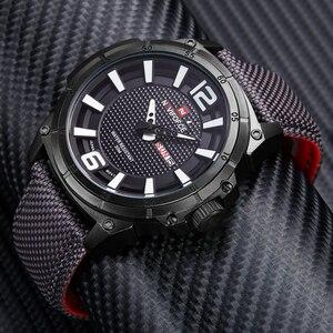 Image 3 - NAVIFORCE แบรนด์นาฬิกาแฟชั่นผู้ชาย Casual ผ้าใบหนังกีฬา QUARTZ นาฬิกาข้อมือชายนาฬิกา Relogio Masculino