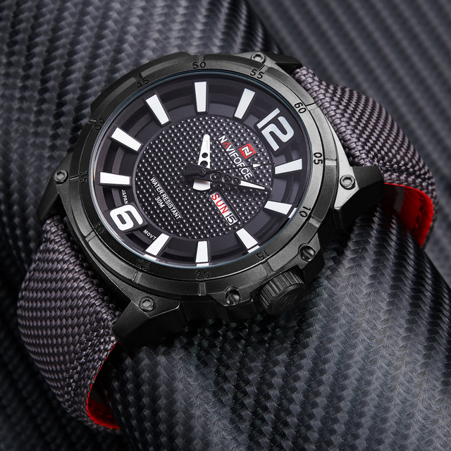 Military Watches Men Fashion Casual Canvas Leather Sport Quartz Wristwatches