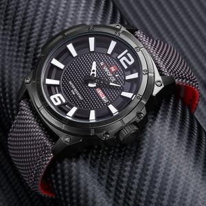 Image 3 - NAVIFORCE Top Marke Militär Uhren Männer Mode Casual Leinwand Leder Sport Quarz Armbanduhren Männlich Uhr Relogio Masculino