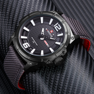 Image 3 - NAVIFORCE למעלה מותג צבאי שעונים גברים אופנה מזדמן בד עור ספורט קוורץ שעוני יד זכר שעון Relogio Masculino