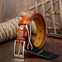 Luxury Women Belts Cow Genuine Leather 2015 Not Easy Oxidation Pin Buckle Vintage Natural Grain Leather