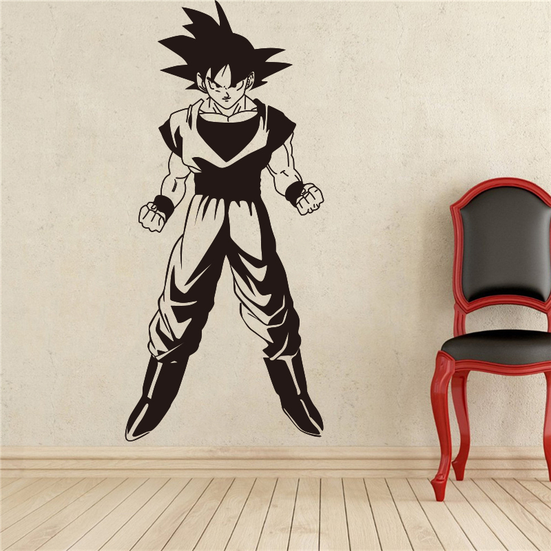 Wall Stickers Straightforward 2018 Real Hot Sale Dragon Ball Z Goku Wall Decal Vinyl Comics Anime Cartoons Home Decoration Art Removable Stickers # T273 Invigorating Blood Circulation And Stopping Pains