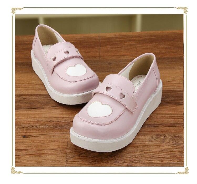 Coeur out 8cm 4cm Pu8637 8cm Princesse Douce toe Personnalisé Nouvelle 4 Flatform Lolita Chaussures Rond Slip Cm 8cm 8cm En Cos De Forme QBodeWErxC