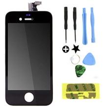 Negro / blanco LCD lente de la pantalla táctil montaje del digitizador para el iPhone 4 4 G GSM / CDMA