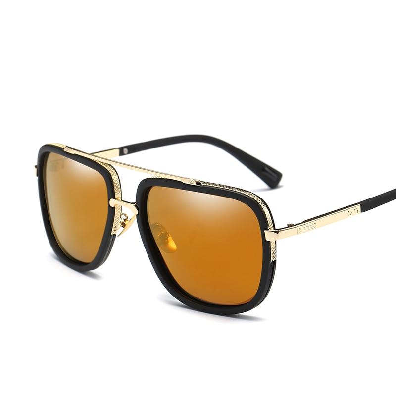 Peekaboo driving polarized sunglasses men with box brand luxury black mens square shades men mirror 2017