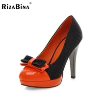Бесплатная доставка туфли на каблуках платформы женщин сексуальное модной обуви насосы P12418 EUR размер 34-39