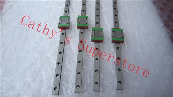 100% New Original HIWIN Brand Linear Guide HGR20R500mm rail + 2pcs HGW20 CA Flange Blocks