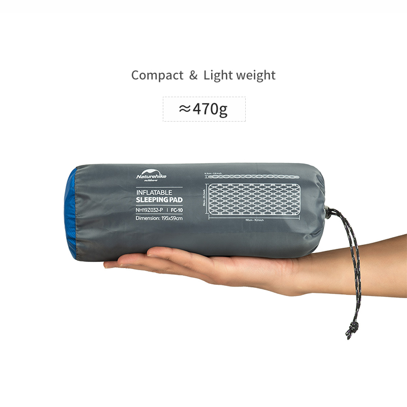 Naturehike Sleeping Pad With Pillow Air Bag New Hand Press Inflating Camping Mattress Ultralight Outdoor Hiking Tent Mats