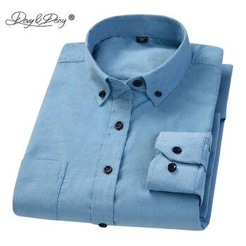 56571a9b73 Davydaisy 2018 nueva llegada moda 100% pana de algodón hombres camisa de  manga larga casual Hombre Caballero Camisas marca ds229