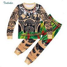 d511582ab5e19 Moana Maui Costume Garçons Pyjamas De Nuit de Nuit À Manches Longues 3-10  Ans enfant adolescent enfant t jupe vêtements peignoir.