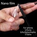 Nano a prueba de explosiones protectores de pantalla de cine para iphone 6 s plus 7 plus ultra-delgado de alta definición para apple 5se a prueba de arañazos