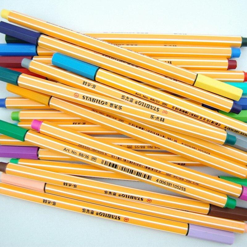 12pcs/lot Germany STABILO fiber colored gel pen set Stabilo swan 88 fiber pen kawaii stationery office school supplies Papelaria