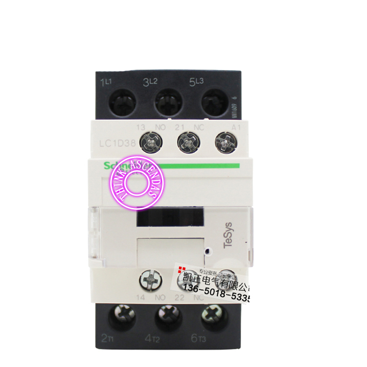 LC1D Series Contactor LC1D38 LC1D38BDC 24V LC1D38CDC 36V LC1D38DDC 96V LC1D38EDC 48V LC1D38FDC 110V LC1D38GDC LC1D38JDC 12V DC sayoon dc 12v contactor czwt150a contactor with switching phase small volume large load capacity long service life