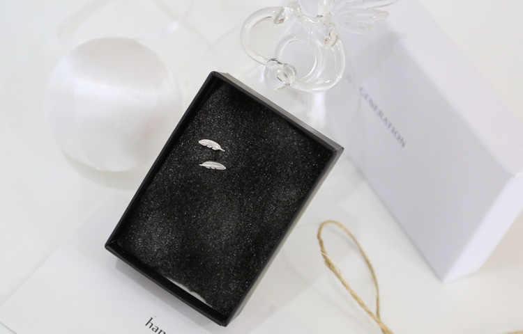 DreamySky Настоящее серебро 925 проба Серьги с перьями для женщин Рождественский подарок горячие ювелирные украшения для свадьбы Pendientes Brincos