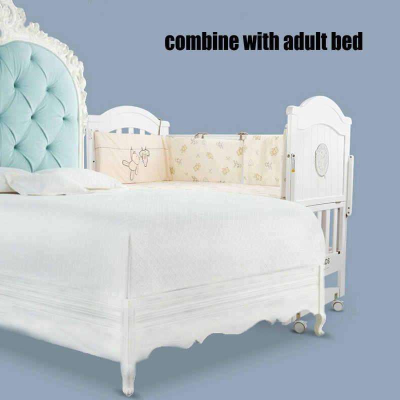 детская кровать из белой сосны длиной 110 см может трансформироваться в детскую кровать детская кроватка может быть качалка колыбель кровать может