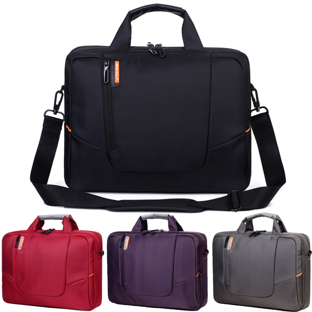14 15 15.6 Inch Waterproof Nylon Computer Laptop Solid Notebook Tablet Bag Bags Case Messenger Shoulder for Men Women