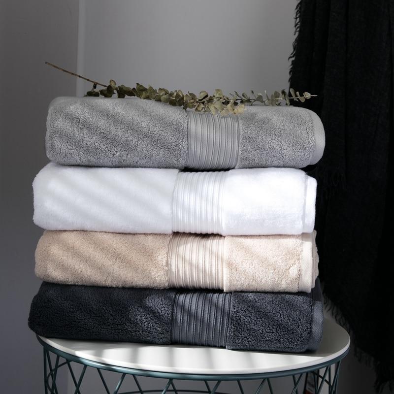 luxury egyptian cotton bath towels 75x140cm thick large solid spa bathroom hotel beach playa couple towel - Egyptian Cotton Towels
