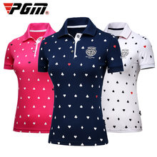 Female fashion Tops Apparel Lady PoLo T-shirt S-XL Sportswear Golf Tennis Run Dry Fit Breathable Women Short Love Shirt Clothes(China)