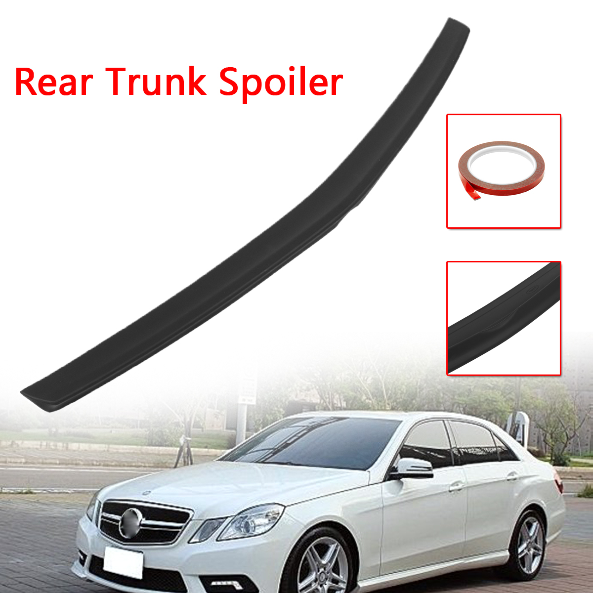 Car Unpainted Rear Trunk Spoiler Wing Boot Lid Spoiler Plastic For Mercedes-Benz E Class W212 for AMG 2009-2018Car Unpainted Rear Trunk Spoiler Wing Boot Lid Spoiler Plastic For Mercedes-Benz E Class W212 for AMG 2009-2018