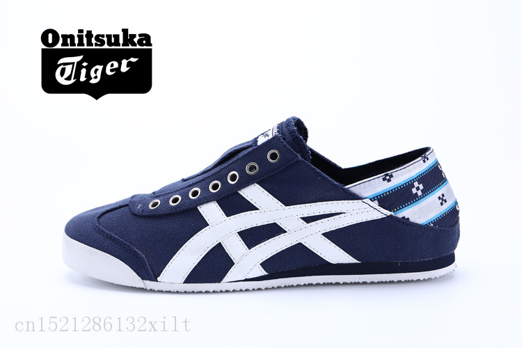 another chance 9a005 7c593 US $48.15 14% OFF|Onitsuka Tiger MEXICO 66 Lazy shoes, sports and leisure  shoes,Rice White blue red size36 44-in Badminton Shoes from Sports & ...