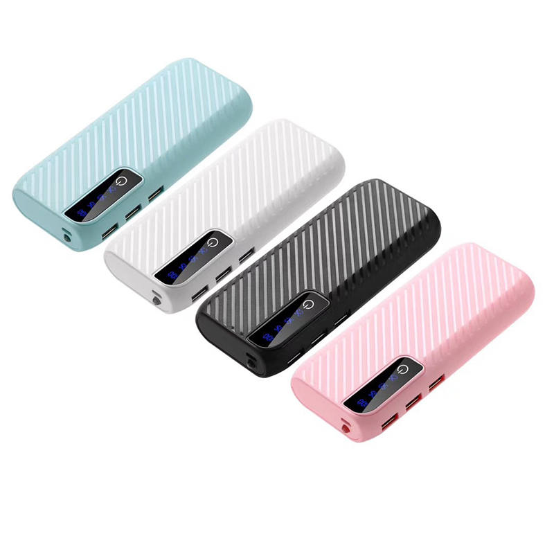 20000mAh Mini Power Bank 3 USB Power External Charger Emergency Powerbank For Xiaomi Mi Portable Poverbank for iPhone Samsung(China)