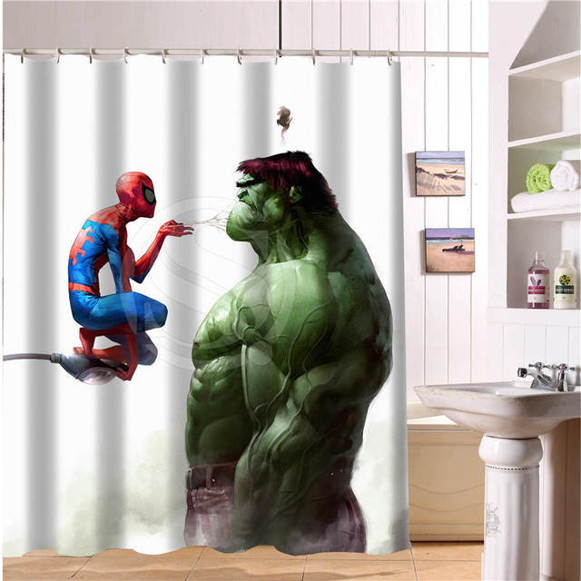 Custom The Avengers, Marvel Hero Shower Curtain New Large European And  American Big Ideas Print