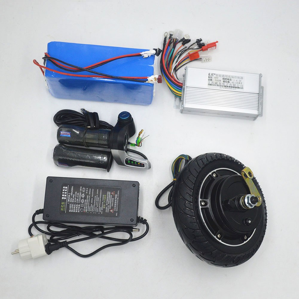 Kit de moteur de roue de 8 pouces 36 V 48 V 350 W kit de moteur de vélo électrique pour scooter électrique ebike bricolage ensemble de moteur de moyeu de scooter électrique