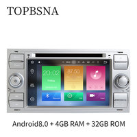 TOPBSNA 7 inch Android 8.0 2 Din Car Multimedia player For Ford/Focus/Mondeo/Kuga GPS Navigation Mirror link Automotive WIFI RDS