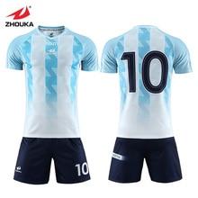 Mens Blue Tracksuit Football Jerseys Camiseta Futbol Team Sportswear Custom Soccer Jersey Sublimated Your Own Shirts