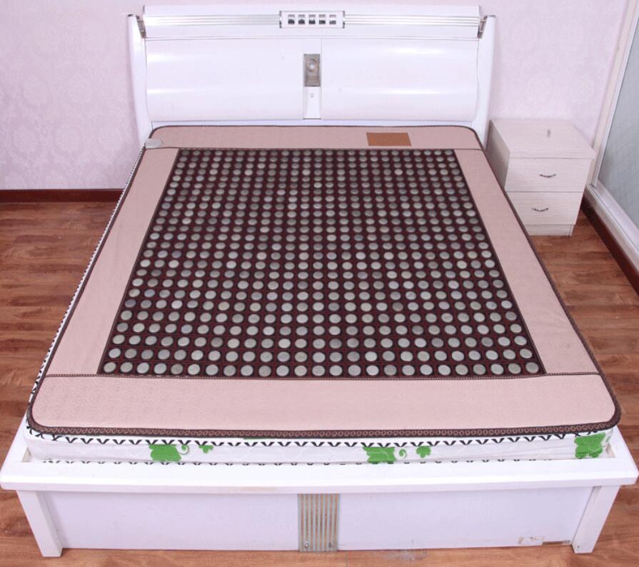 Natural jade mattresses, double temperature dual control tomalene germanium mattress, far infrared heating stone mattress health 2016 electric heating massage jade stone mattress korean mattress wholesaler 1 2x1 9m