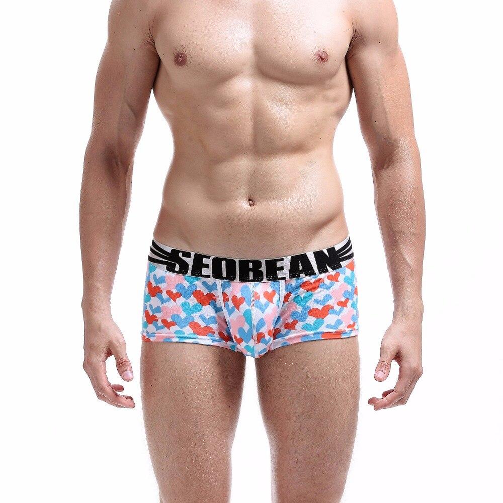 Men's Underwear 4colors Brand Seobean Mens Gay Boxers Low-waist U-bag Boxers Cotton Sexy Underwear Sexy Fashion Underpants Male Cotton Boxers Pure And Mild Flavor Boxers
