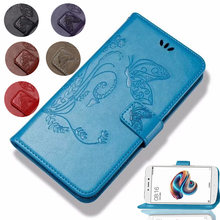 Flip Leather Wallet butterfly Cover For Infinix Hot 4 6 Pro S3 Note 5 Note 4 Pro Smart 2 Zero 5 Pro Case Flip Protective Cases(China)