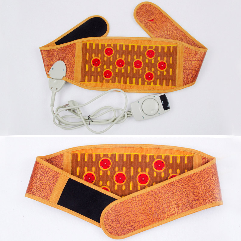 Tourmaline Granule Belts Men and Women Lumbar Electric Heating Lumbar Intervertebral Discs Summer Highlights Warm Healthy Belt electric heating waist belt protector for intervertebral strain lumbar support heating uterus stomach suited for men and women