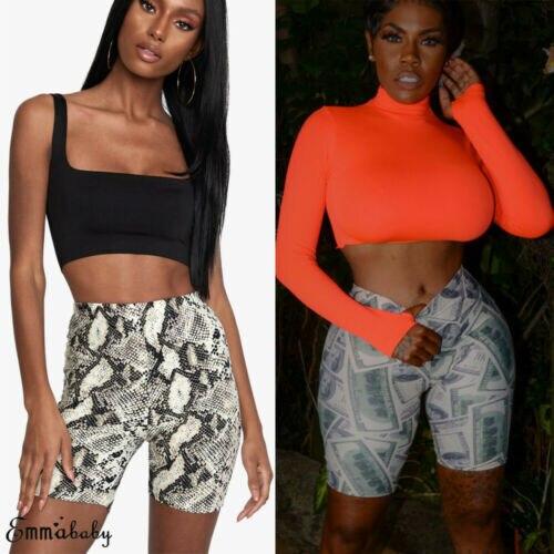 Women Fashion Hot Shorts Casual Bodycon High Waist Stretchy Beach Trousers Sale