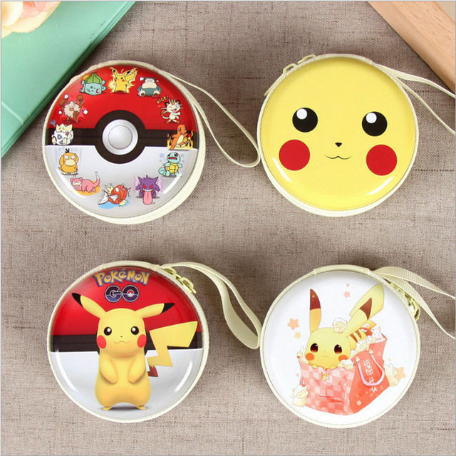 Pokemon Go Pikachu Cartoon Tin Zipper Storage Box Headset Cable Organizer Candy Jewelry Earring Boxes Decorative & Pokemon Go Pikachu Cartoon Tin Zipper Storage Box Headset Cable ...
