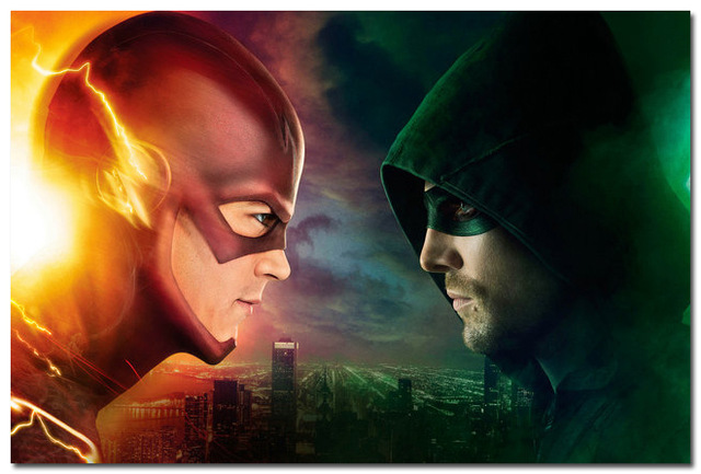 The Flash vs flecha de papel posters / pegatinas / pared de la lona ...