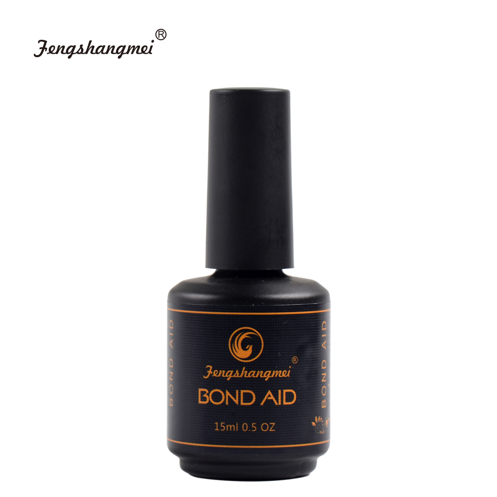 fengshangmei 15ml Base And Top Set No Wipe Diamond Top for Gel Varnish Nail Led UV Gel Lacquer Tops 4