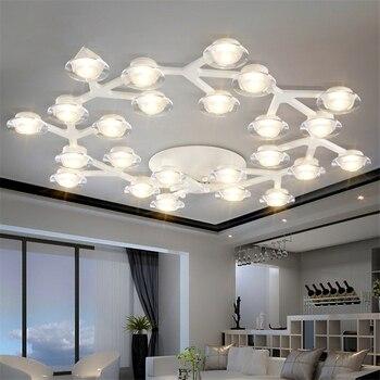 JAXLONG פוסט מודרני LED תקרת מנורות קריסטל חידוש לופט תאורה נורדי גופי בית תאורת סלון אורות חדר שינה