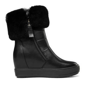 Image 3 - MORAZORA 2020 top quality ankle boots women zipper round toe keep warm winter snow boots simple solid colors platform shoes