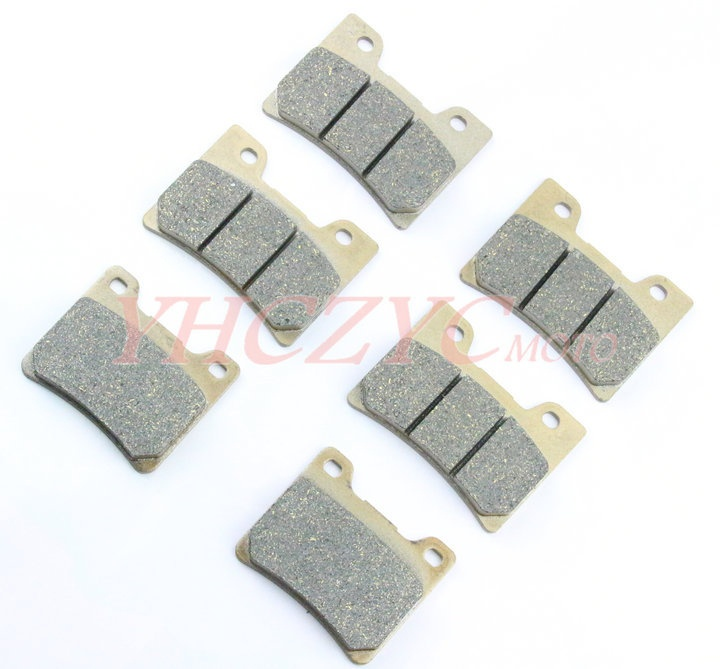 For Yamaha TDM850 1996-2001/FZR1000 1989-1990 motorcycle front and rear brake pads set motorcycle front and rear brake pads for yamaha fzr 1000 fzr1000 genesis 1987 1989 brake disc pad