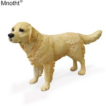 Mnotht 1/6 JGolden Retriever Dog Model Standing Posture Mini Toy Scene Accessory Decoration for Action Figure Collection