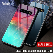 Starry Sky Tempered Glass Case For Samsung Galaxy S9 S8 S10 Plus A50 A70 A40 A60 A30 A20 A10 M10 M20 J4 J6 A6 A7 2018 Space Case metal magnetic adsorption case for samsung galaxy a10 a20 a20e a30 a40 a50 a60 a70 m10 m20 s8 s9 s10 s10e j4 j6 j8 plus a7 2018