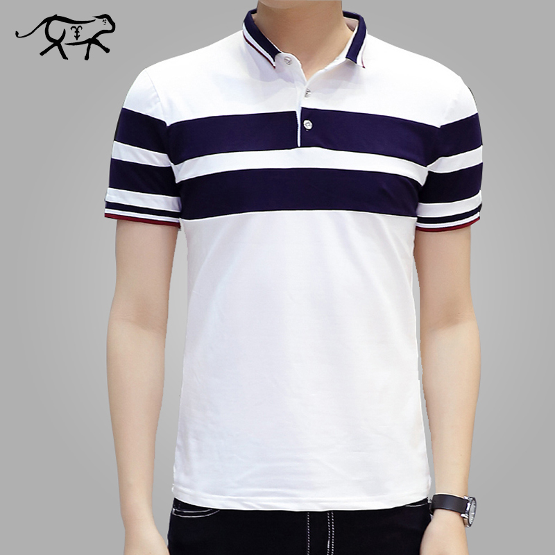 2018 New Men   Polo   Shirt Classic Striped Casual Mens   Polo   Shirt brands Short Sleeve Breathable Cotton Fashion Camisa Men's   Polos