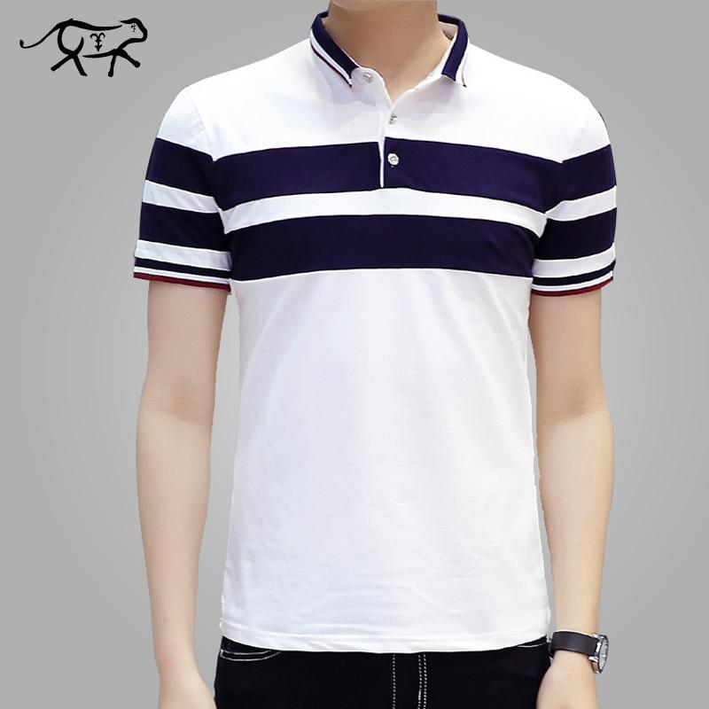 099b629daf54e1 2018 Nowych Mężczyzna Polo Koszula Klasyczna Striped Casual Mężczyzna Polo  Koszula marki Krótki Rękaw Oddychająca Bawełna Mody Camisa męska polo