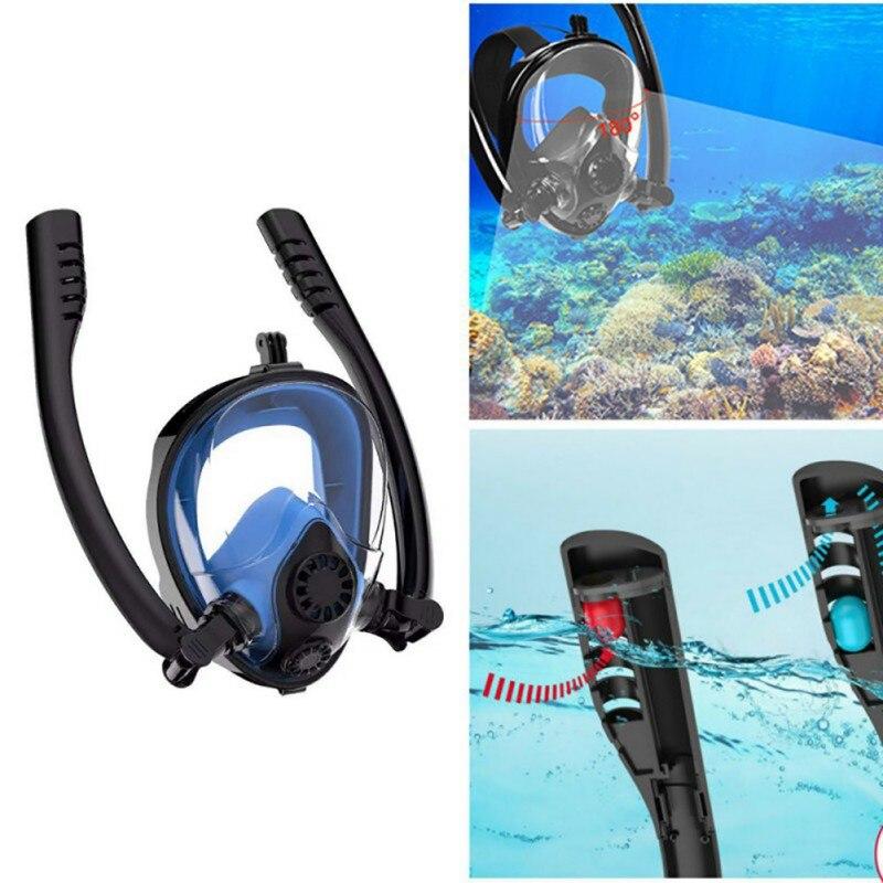 Système respiratoire masque de plongée en apnée pour respiration naturelle masque de plongée Anti-fuite Anti-buée