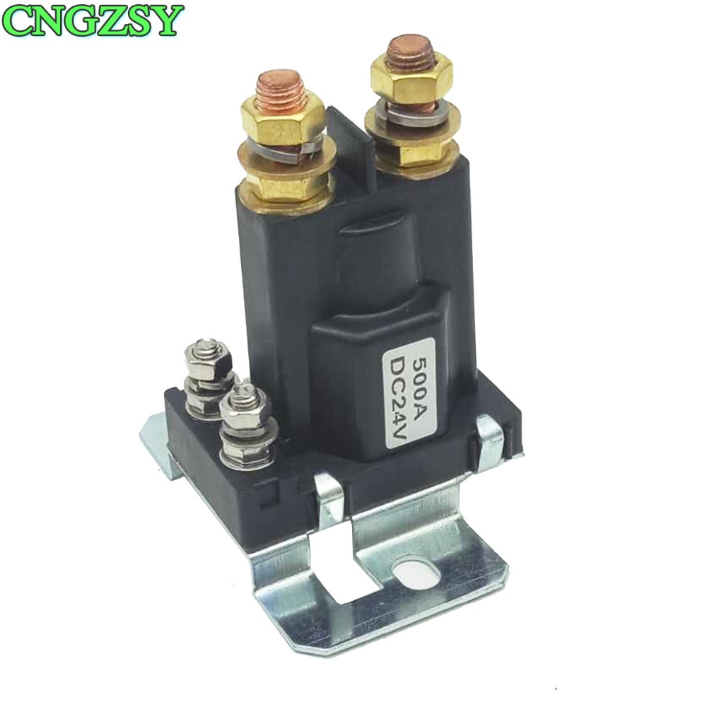 Dual Battery Isolator Relay 500A 24V DC High Current Relay Contactor On/Off Car Auto Power Switch 4 Pin R25-24