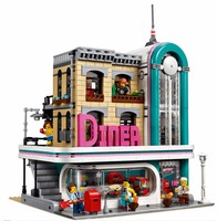 The Downtown Dinner Genuine 15037 Street view Series Building Blocks Bricks 2778Pcs Compatible With bela 10260