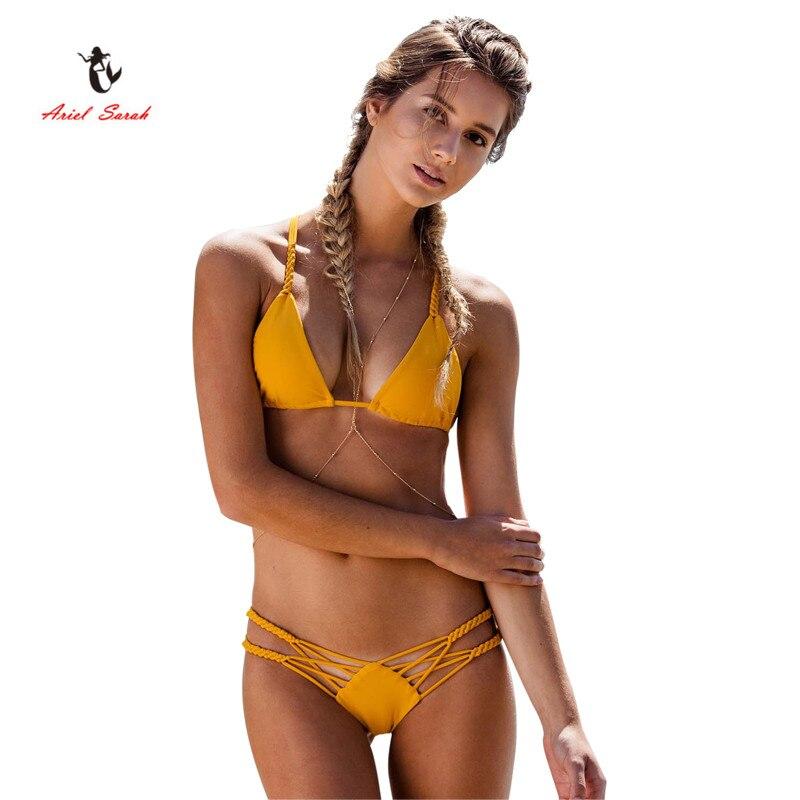 2017 Ariel Sarah Brand New Arrival Summer Sexy Tie Dye Bikini Women Swimwear Bikini Maio Praia