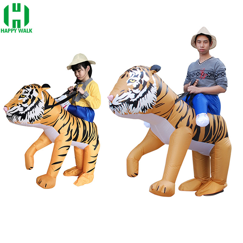Purim Carnival Parade Inflatable Costumes tiger Adult Fancy Dress mascot Cosplay Costume Carnival Christmas Halloween party suit