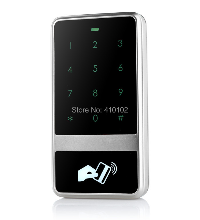 125KHz RFID ID Card Reader Metal Case Access Controller  Touch Keypad For House Office Home Improvement good quality metal case face waterproof rfid card access controller with keypad 2000 users door access control reader